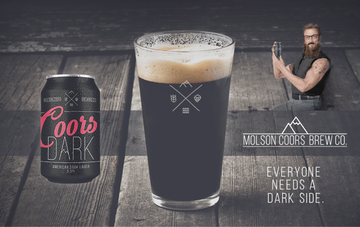 Coors dark redesigned as a craft beer